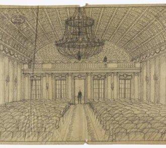 A díszterem (Györgyi Dénes tervrajza a Balatoni Múzeum gyűjteményéből)