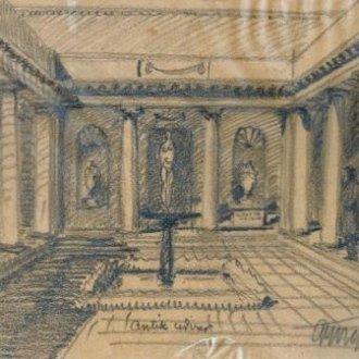 Antik udvar (Györgyi Dénes tervrajza a Balatoni Múzeum gyűjteményéből)