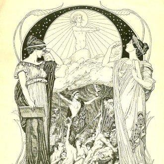 Ex libris Kleio és Kalliopé alakjával