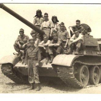 Berkes József szakasza a T-54-es tankkal 1968-ban