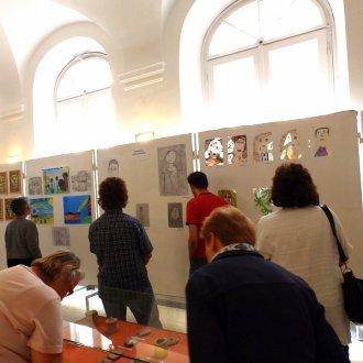 Kiállítás a projekt során készült munkákból