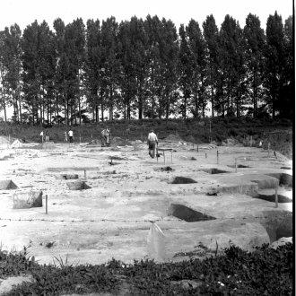 Jászapáti-Nagyállás úti temető feltárás közben