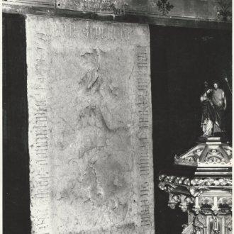 Archív fotó a sírkőről (Balatoni Múzeum, Fotótár)