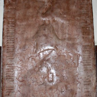 Lackfi II. István nádor vörösmárvány sírköve ma