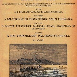 A Balaton tudományos tanulményozásának eredményei