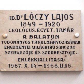 Lóczy Lajos emléke