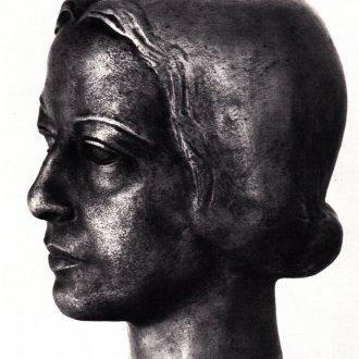 """Seiber Mária portréja (Illusztráció """"A kedves után"""" című kötetből)"""