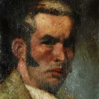 Basilides Sándor: Önarckép (1925)