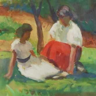 Basilides Sándor: Pihenő lányok (1959)
