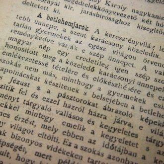 A Keszthelyi Hírlap 1898. december 11-i száma az idézett cikkel