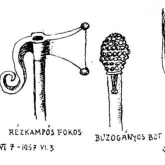A nagyberek pásztorainak eszközei Takáts Gyula rajzán