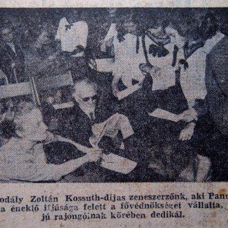 Képes tudósítás részlete a Naplő 1965. június 1-i lapszámából