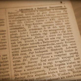 Adományok a Balatoni Múzeumnak