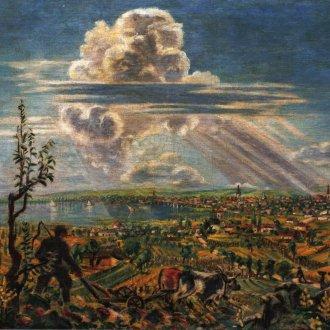 Boromisza Tibor: Keszthely látképe (1947)