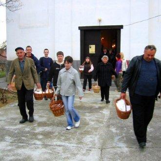 Húsvéti ételszentelés, Táska (Somogy m.) 2005 - Fotó: Gyanó Szilvia