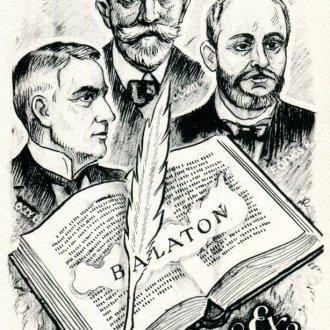 Poór Ferenc Ex libris gyűjteményéből - Kertes Kollmann Jenő kisgrafikája