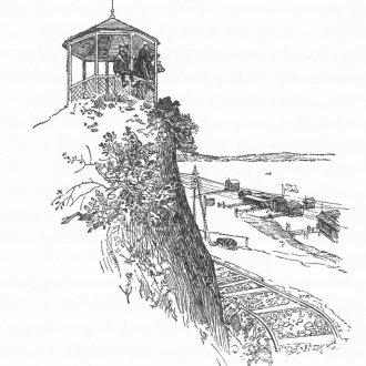 Kilátó pavilon a Hétház felett