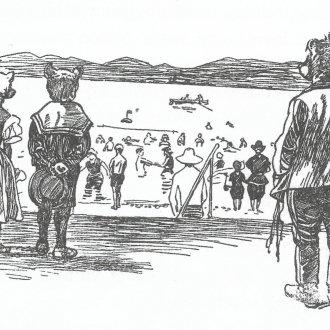 A siófoki strandon
