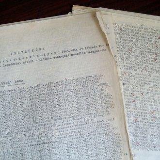 Az 1942-43-ban elcsomagolt tárgyak listája