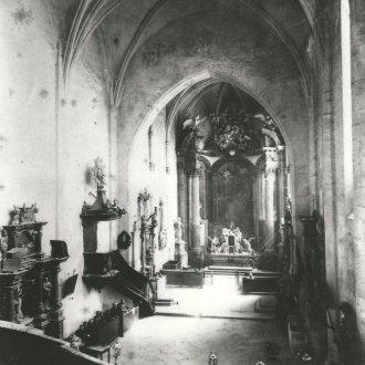 A templombelső az 1896. évi felújítás előtt