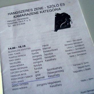 Az 1996-os Helikoni Ünnepségek programfüzete