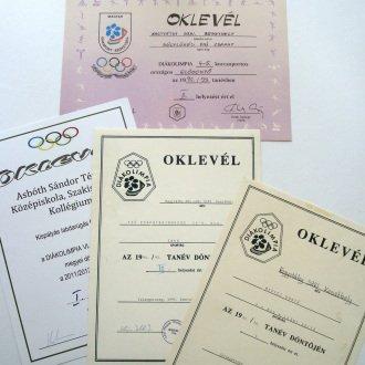 4. kép - Az országos döntőkben elért jó eredmények közé tartozik a fiú súlylökő csapat 2. helye 1993-ban