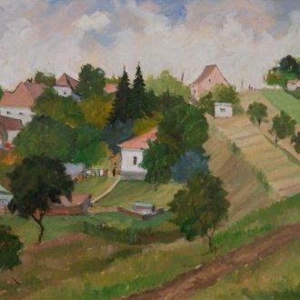 """Tolnay Tibor """"Gellénháza"""" című képe."""