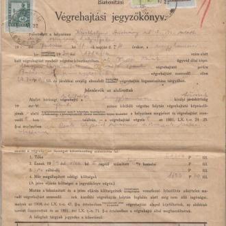 Az 1931-es végrehajtási jegyzőkönyv (Balatoni Múzeum, Történeti dokumentációs gyűjtemény)