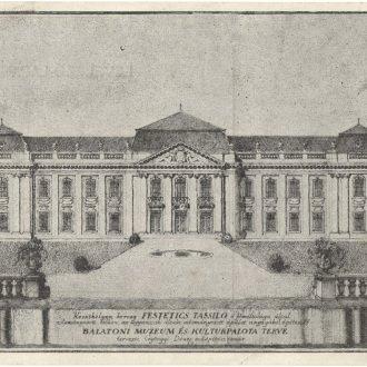 A Balatoni Múzeum és Kultúrpalota Györgyi Dénes műépítész-tanár által készített terve (Balatoni Múzeum, Történeti dokumentációs gyűjtemény)