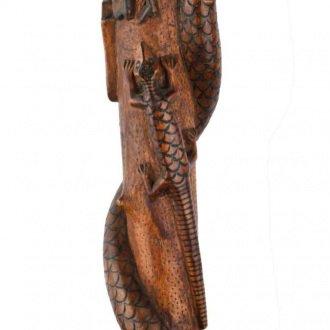 Kígyós-gyíkos pásztorbot a Balatoni Múzeum Néprajzi gyűjteményből