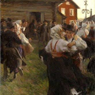A svéd Anders Zorn festménye a nyárközépi táncról (1897) Forras: Wikipedia Commons