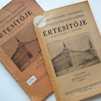 Két értesítő három tanévről, 1918-1921