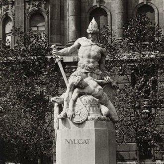 Sidló Ferenc: Nyugat. A budapesti emlékmű részlete
