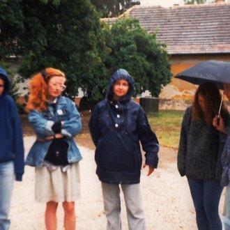 Egyetemi gyakorlaton - többek között -  Haász Gabriella történész-muzeológussal, akivel kollégák lettek itt, a Balatoni Múzeumban
