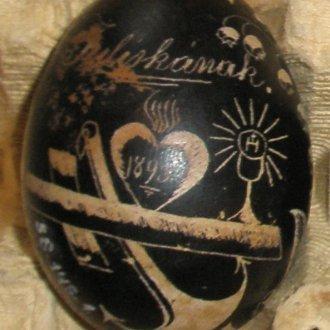 Hímes tojás (Balatoni Múzeum, Néprajzi gyűjtemény)